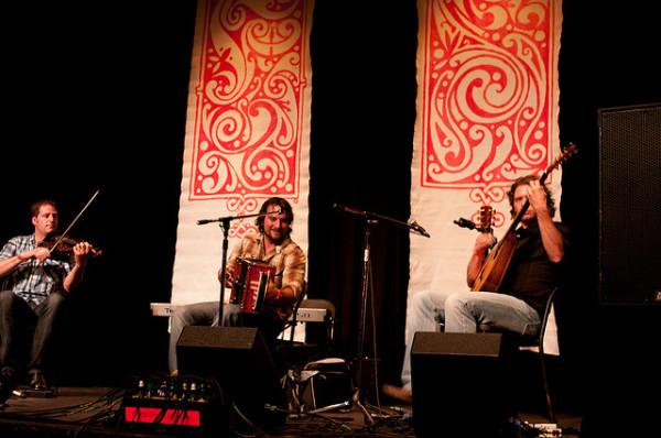 Quebec music group De Temps Antan. Photo by Wil Macauley.