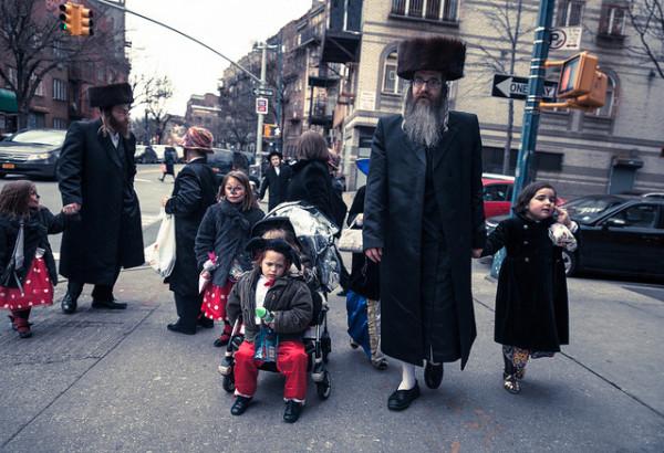 Hasidic Jew Family