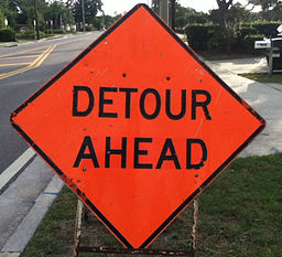 Detour Sign Dunedin FL
