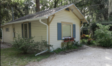 Our AirBnB cottage in New Port Richey Florida.