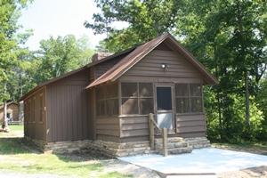 DeSoto State Park rustic cabin. Alabama.
