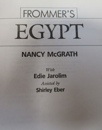 Frommer's Egypt inside cover