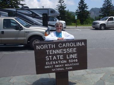 Smoky Mtn Pk Newfound Gap state lines